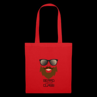 Beard with sunglasses - funny gift for man - Tote Bag