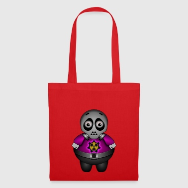 Alien with atom and gas mask - Tote Bag