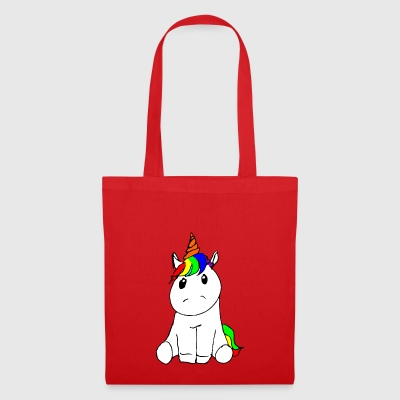 Sitting unicorn drawing cuddly cute colorful - Tote Bag