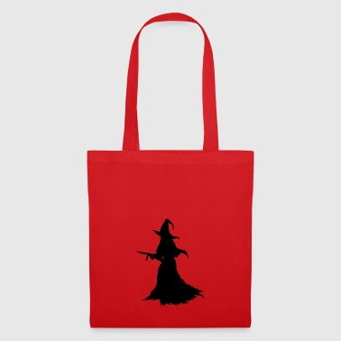 Witch with Assault Rifle / AK for Halloween - Tote Bag