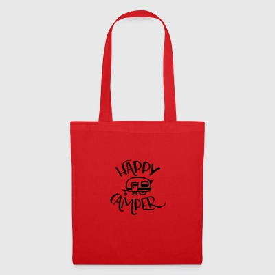 Camping: Happy Camper - Tote Bag