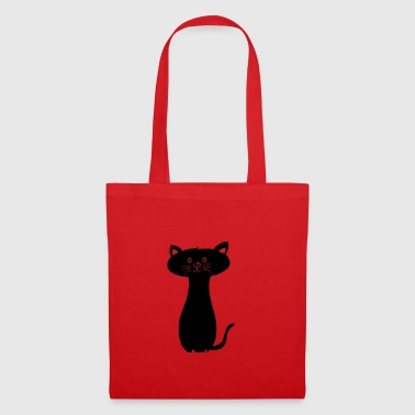 nero Kitty - Borsa di stoffa