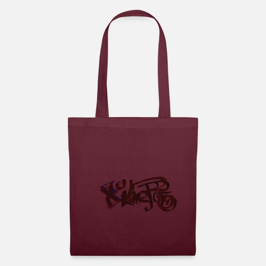Lettering Bags & Backpacks - Silver - Tote Bag burgundy