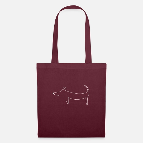 Gift Idea Bags & Backpacks - EASY DOG DESIGN LINE ART GIFT IDEA - Tote Bag burgundy
