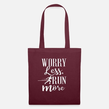 Running Worry Less Run More No. 9 - Stoffbeutel