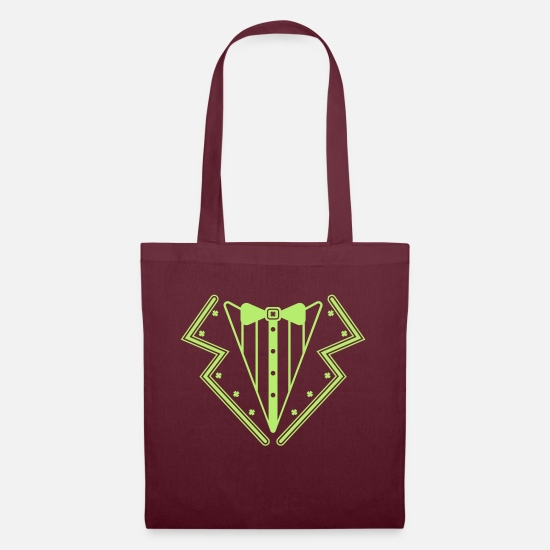 Gift Idea Bags & Backpacks - Irish tuxedo - Tote Bag burgundy