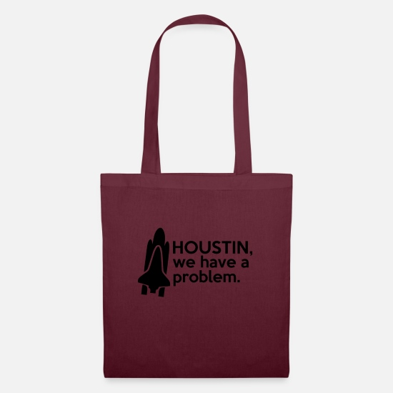 Astronaut Bags & Backpacks - Houstin, we have a problem. - Tote Bag burgundy