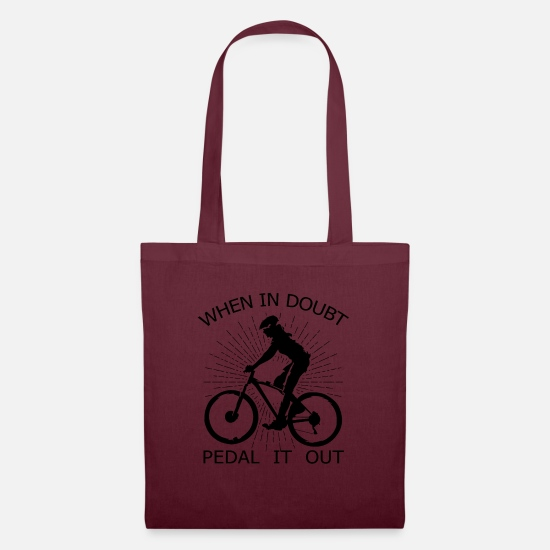 Biker Borse & Zaini - Mountain Bike Single Speed Fixie Gift - Borsa di stoffa rosso borgogna