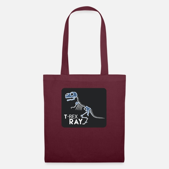 Radiology Student Bags & Backpacks - T Rex Ray Funny Skeleton XRay Dinosaur - Tote Bag burgundy