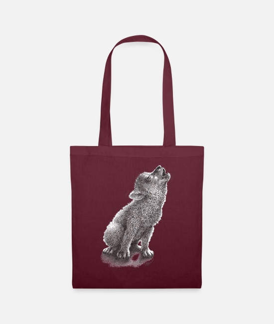 Young Bags & Backpacks - Young Howling Wolf - Tote Bag burgundy