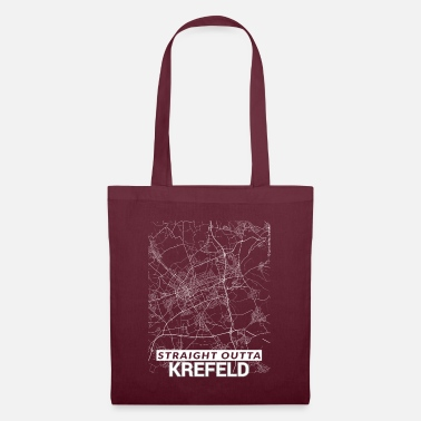 Lives Straight Outta Krefeld city map and streets - Tote Bag