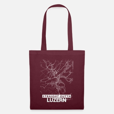 Cartography Straight Outta Lucerne city map and streets - Tote Bag