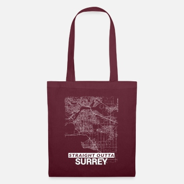 Surrey Straight Outta Surrey city map and streets - Tote Bag