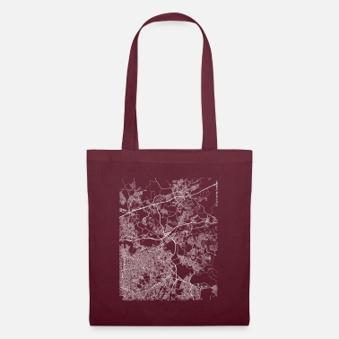 Love Was Not Minimal Itaquaquecetuba city map and streets - Tote Bag
