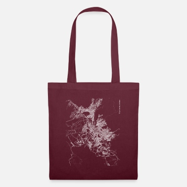 Arequipa Minimal Arequipa city map and streets - Tote Bag