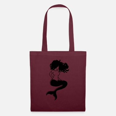 Hair female mermaid sitting sexy woman girl scho - Tote Bag