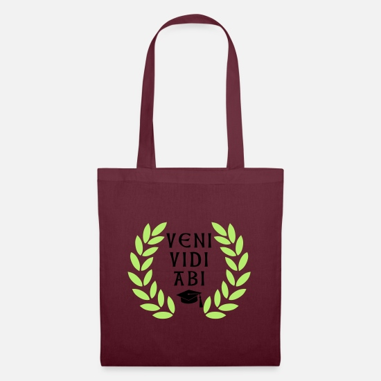 University Bags & Backpacks - veni vidi abi - Tote Bag burgundy