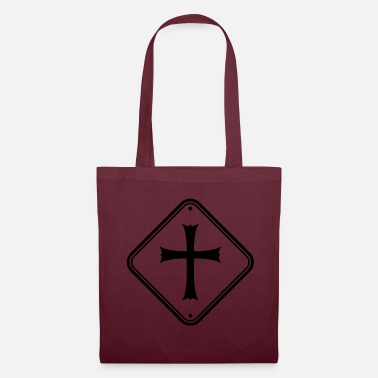 Pray zone sign warning caution note caution church - Tote Bag