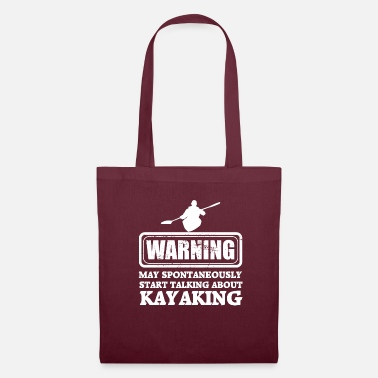 Rafting avertissement kayak - Tote Bag