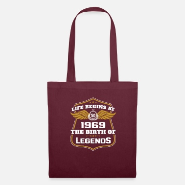50th Birthday Life begins at 50 1969 the birth of legends - Tote Bag