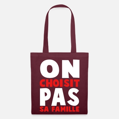 Europe ON CHOISIT PAS SA FAMILLE - Tote Bag