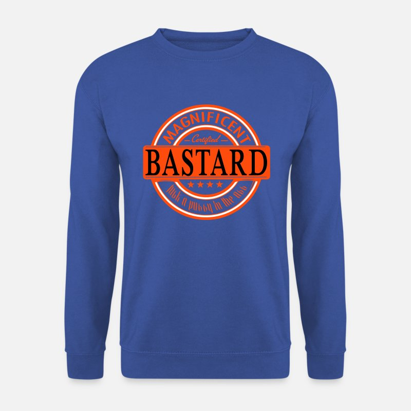 Bastard Hoodies & Sweatshirts - magnificent bastard - Men's Sweatshirt royal blue