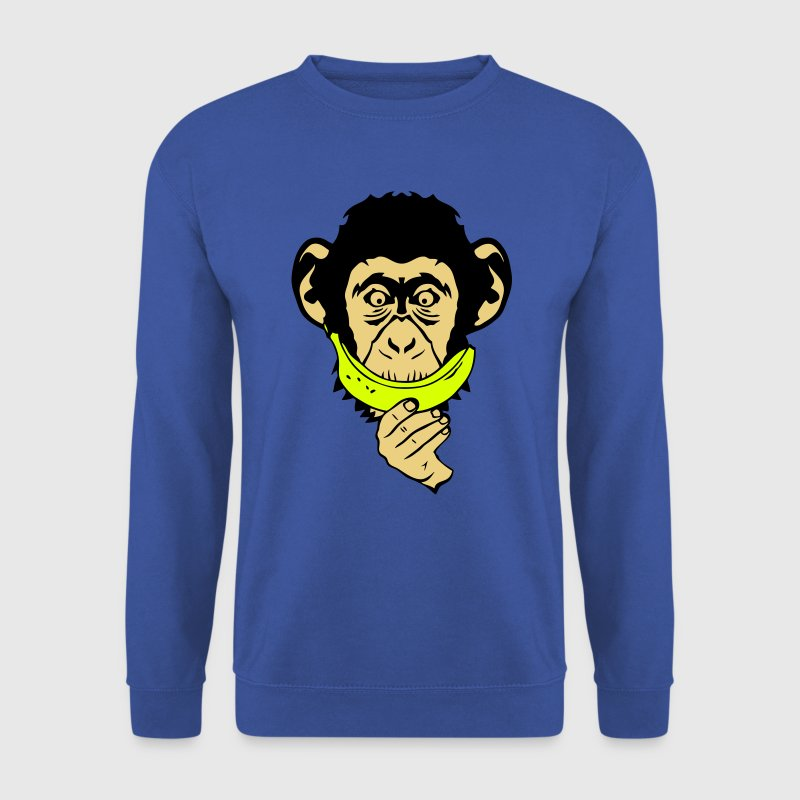 singe monkey sourire banane smiley face - Sweat-shirt Homme
