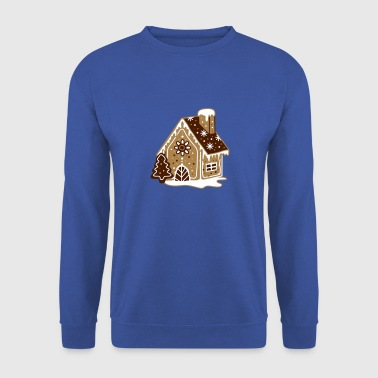 A gingerbread house, gingerbread and frosting  - Men's Sweatshirt