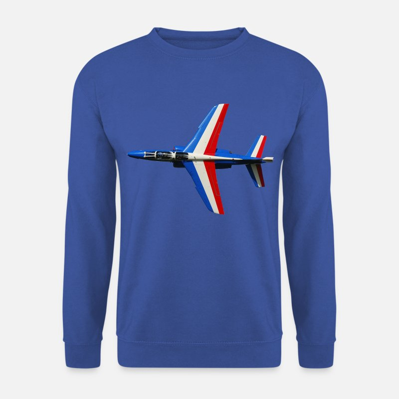 Aircraft Hoodies & Sweatshirts - Patrouille de France t-shirt - Men's Sweatshirt royal blue