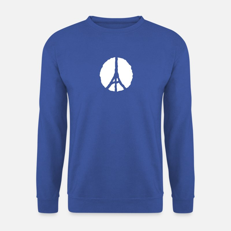 Tour Eiffel Sweat-shirts - tour eiffel logo 912 - Sweat-shirt Homme bleu royal