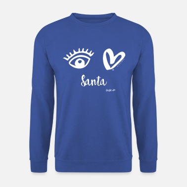 Eye-Love Santa - Men's Sweatshirt