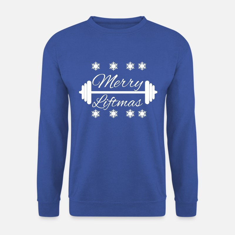 Christmas Sweaters - Merry Liftmas - Mannen sweater koningsblauw