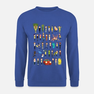 Many Mortys Ricky and Morty The Many Morty's - Men's Sweatshirt