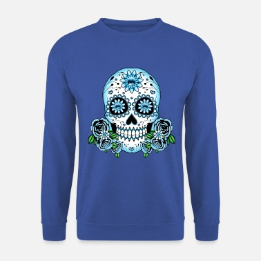 Sugar Skull Blue Sugar Skull - Men's Sweatshirt