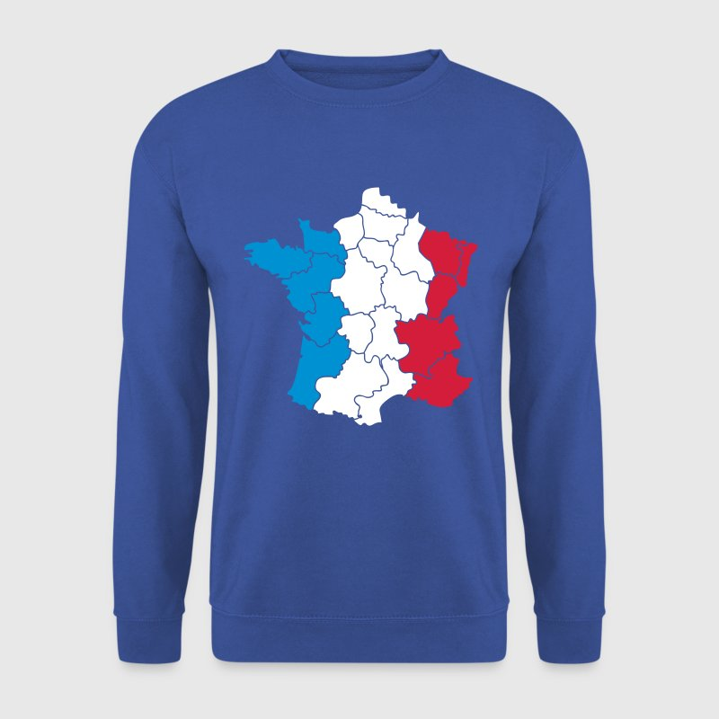Carte de France tricolore - Sweat-shirt Homme