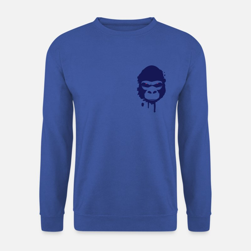 Gorilla Hoodies & Sweatshirts - gorilla head Graffiti - Men's Sweatshirt royal blue