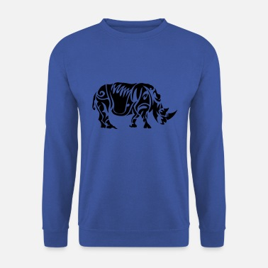 Rhinocéros rhinoceros tribal tatouage 402 - Sweat-shirt Homme