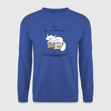 Chat gourmand - Sweat-shirt Homme
