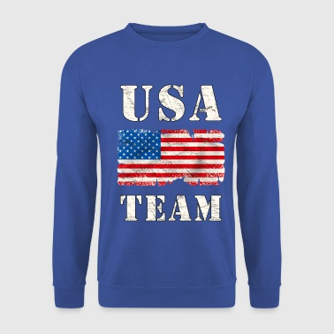 usa team grunge flag - Sweat-shirt Homme