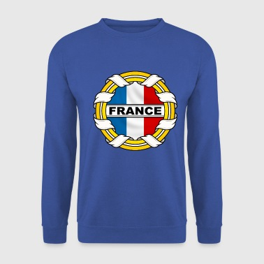 France logo tricolore - Sweat-shirt Homme