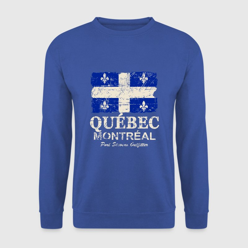 Québec  Flag - Canada - Vintage Look - Men's Sweatshirt