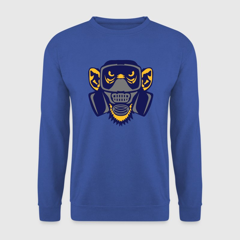 singe masque gaz monkey gas mask - Sweat-shirt Homme