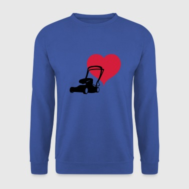 Heart lawn mower - Men's Sweatshirt