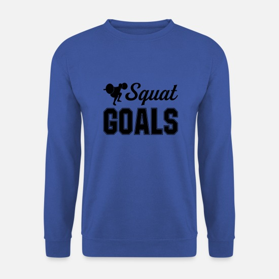 Squat Felpe - Squat Goals - Felpa uomo blu royal