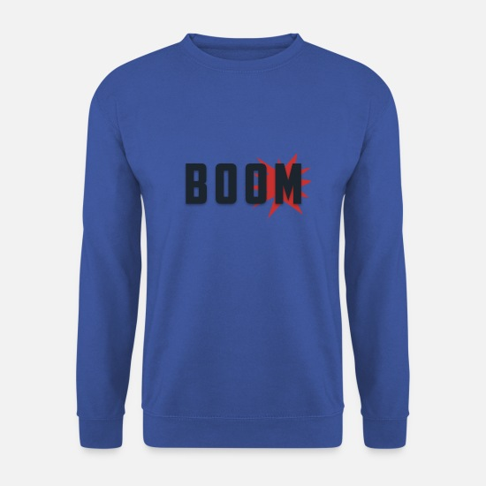 Explosion Sweat-shirts - explosion boom - Sweat-shirt Homme bleu royal