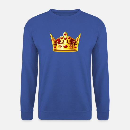 Or Sweat-shirts - roi - Sweat-shirt Homme bleu royal