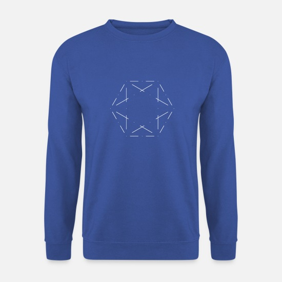 Géométrie Sweat-shirts - Hexagone minimaliste - Sweat-shirt Homme bleu royal