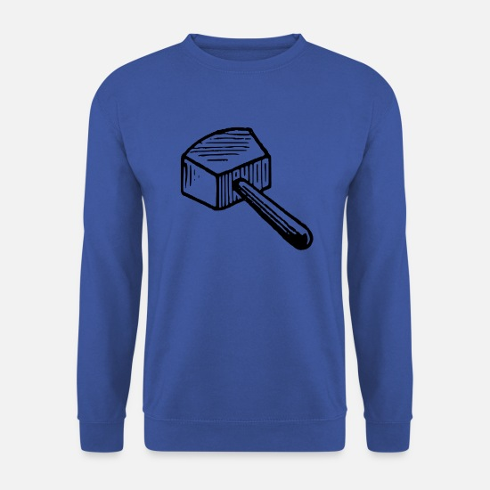 Outil Sweat-shirts - Idée idée cadeau idée de maillet marteau - Sweat-shirt Homme bleu royal