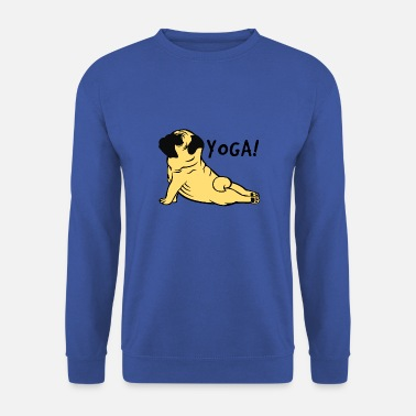 Pug Yoga Pug - Pug - Meditation - Men's Sweatshirt