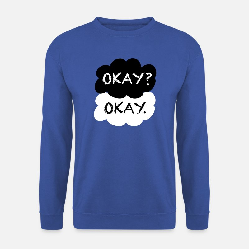 Youtuber Felpe - Okay? Okay. - Felpa uomo blu royal